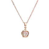 Princess Necklace Crown Pendent Rose Gold-$11 Free Shipping