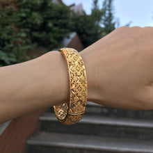 Load image into Gallery viewer, Luxury 24k Gold Color Bracelet Ethiopian Jewelry Bangles For Women