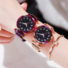 Load image into Gallery viewer, Women Watches Luxury Starry Sky Magnetic Waterproof Nightlight Luminous