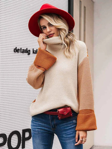 products/Women_pullover_sweater_patchwork_turtleneck_long_sleeve_orange_1.jpg