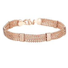Load image into Gallery viewer, Rose Gold Color Link Chain Bracelet Bead Bangles