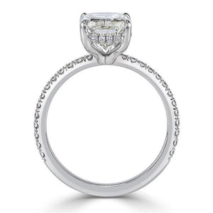 Radiant Cut Baguette Diamond Engagement Rings for Women