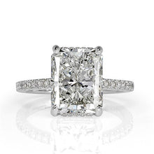 Load image into Gallery viewer, Radiant Cut Baguette Diamond Engagement Rings for Women
