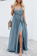 Load image into Gallery viewer, blue summer maxi dress