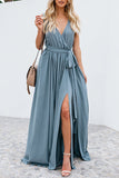 blue summer maxi dress
