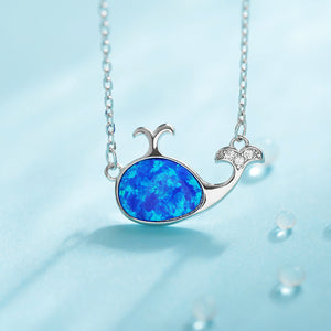 Whale Animal Necklace Ocean Silver Ring Clasp Fashion Jewelry