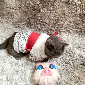 Pet Kimono Costume Cat Small Dog Cosplay for Anime Demon Slayer-Kimetsu no Yaiba