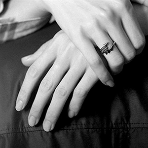 Black White Matching Couple Rings Dragon Wings Tails Punk Gothic Style Jewelry Devil Ring for Girlfriend
