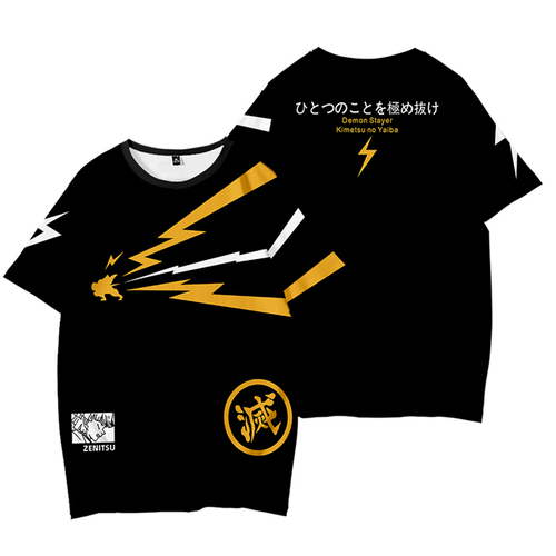 Demon Slayer Zenitsu Inspired Short Shirt Tee