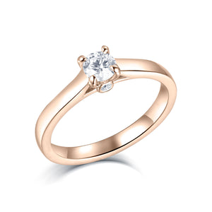 4 prong setting rings rose gold