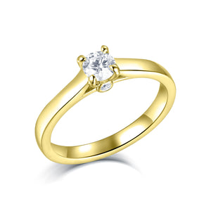 Diamond Ring 4 Claw Setting Radiant Cut