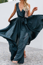 Load image into Gallery viewer, dark green summer maxi dress