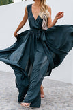 dark green summer maxi dress
