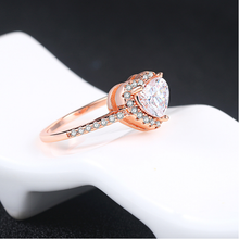 Load image into Gallery viewer, Heart Shaped Diamond Ring Pave Setting