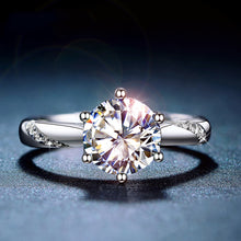 Load image into Gallery viewer, moissanite engagement ring women