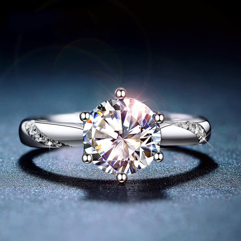 moissanite engagement ring women
