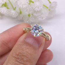 Load image into Gallery viewer, Moissanite Engagement Ring 1 Carat Round Cut Prong Setting Lab Diamond