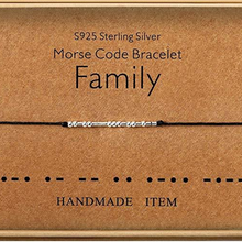 Load image into Gallery viewer, Morse Code Bracelet Family