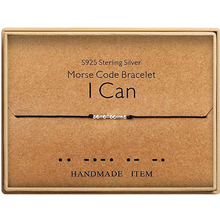 Load image into Gallery viewer, Morse Code Bracelet I Can