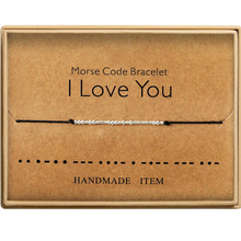Load image into Gallery viewer, Morse Code Bracelet I Love You