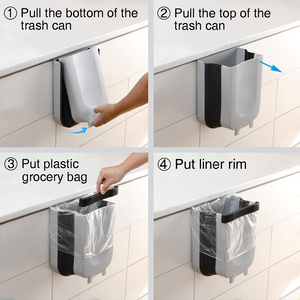 Plastic Foldable Kitchen Garbage Bin and Trash Can