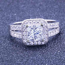 Load image into Gallery viewer, Princess Cut Engagement Rings Split Shank