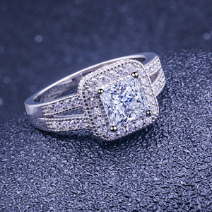 Princess Cut Engagement Rings Split Shank
