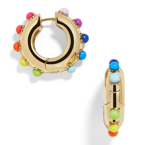 CZ Rainbow Earrings Ear Cuff Set