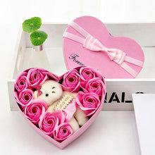 Load image into Gallery viewer, Valentine's Day Creative Gift Rose Teddy Bear Rose Flower Artificial Decoration