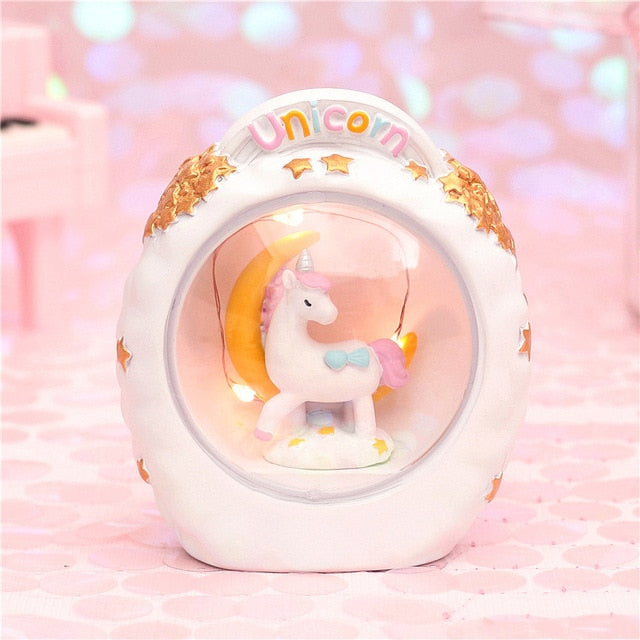 Cartoon Night Light Unicorn Starlight Moon Lamp Illuminator Gift