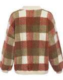 womens pullover sweatshirt plaid lambswool o-neck
