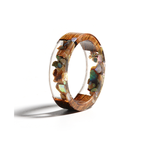 Resin Ring Wood Plastic Flowe