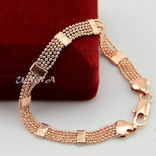 Load image into Gallery viewer, Rose Gold Color Bracelet Bead Bangles