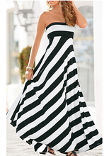 Load image into Gallery viewer, Striped Strapless Maxi Dress