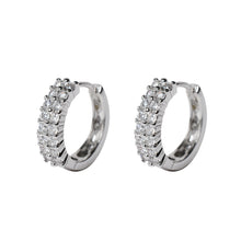 Load image into Gallery viewer, Small Hoop Earrings for Women Silver Color