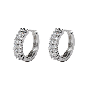 Small Hoop Earrings for Women Silver Color