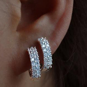 Small Hoop Earrings for Women Silver Shiny Color