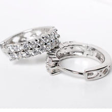 Load image into Gallery viewer, Small Hoop Earrings for Women Silver Shiny Color