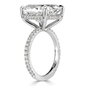 Cushion Cut Engagement Solitaire Ring Eternity Engagement Anniversary Rings & Wedding Band