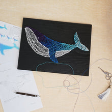 Load image into Gallery viewer, DIY Handmade String Art Pin Tread Art Starry Blue Whale Unicorn Cat Pattern