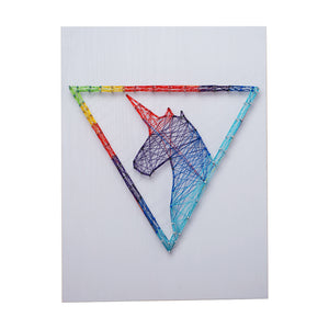 DIY Handmade String Art Pin Tread Art Starry Blue Whale Unicorn Cat Pattern