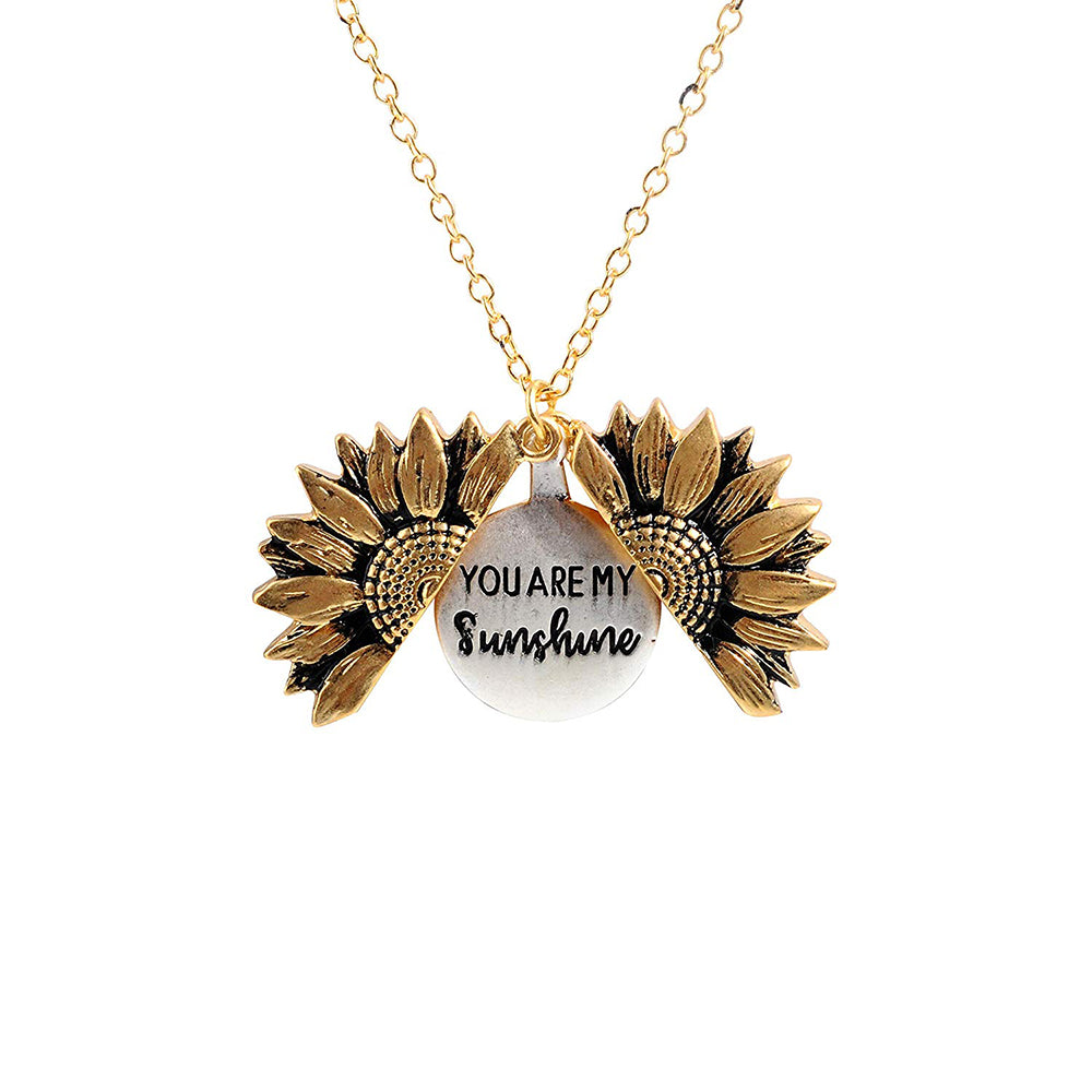 sunshine flower necklace you are my sunshine