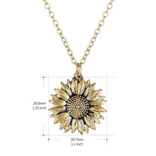 Load image into Gallery viewer, Sunflower Engraved Necklace Open Locket You Are My Sunshine Pendant Necklace