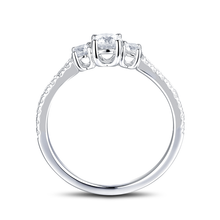 Load image into Gallery viewer, Three Stone Engagement Ring