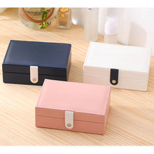 Load image into Gallery viewer, Jewelry Box for Travel Earrings Holder Portable PU Leather
