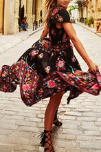 Load image into Gallery viewer, vintage-floral-boho-dress