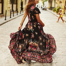 Load image into Gallery viewer, Vintage Boho Dress Floral Print