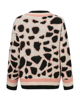 Load image into Gallery viewer, Women Leopard Print Cardigan Sweater