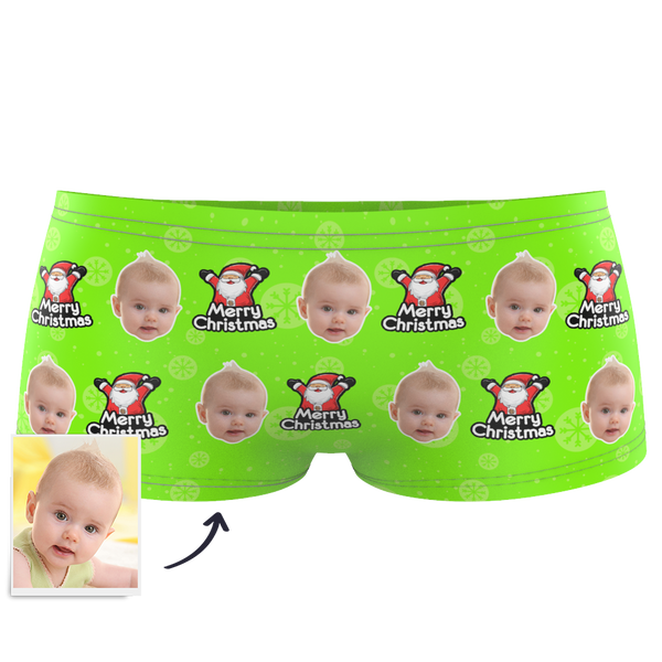 Christmas Santa Claus - Kids Custom Face Boxer