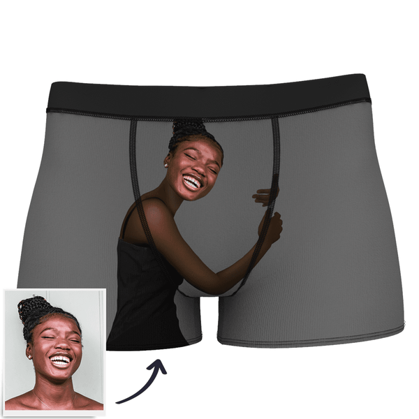 DARK SKIN - MEN'S CUSTOM FACE ON BODY BOXER SHORTS